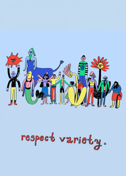 Respect Variety (blue background)