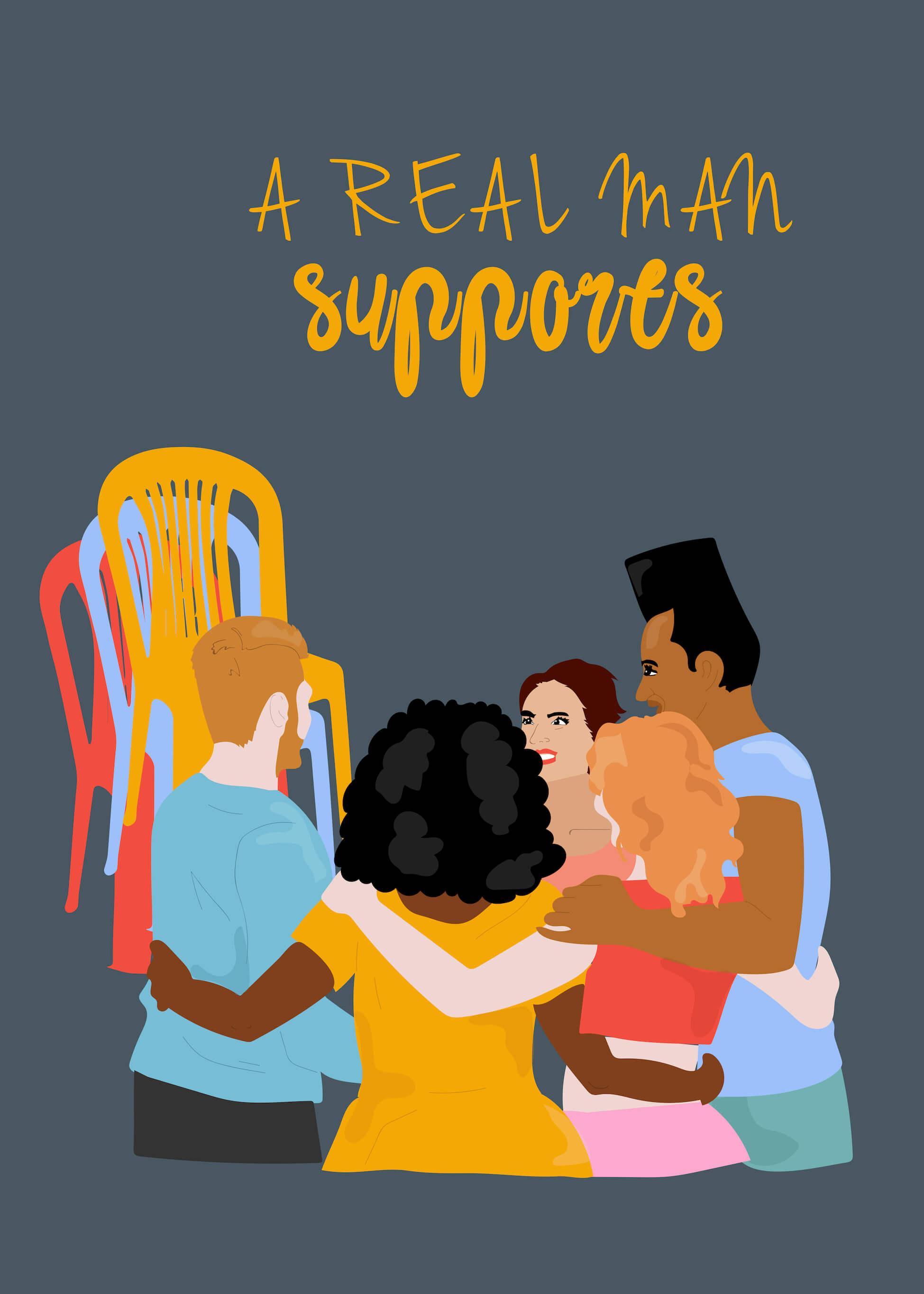 A Real Man Supports main image
