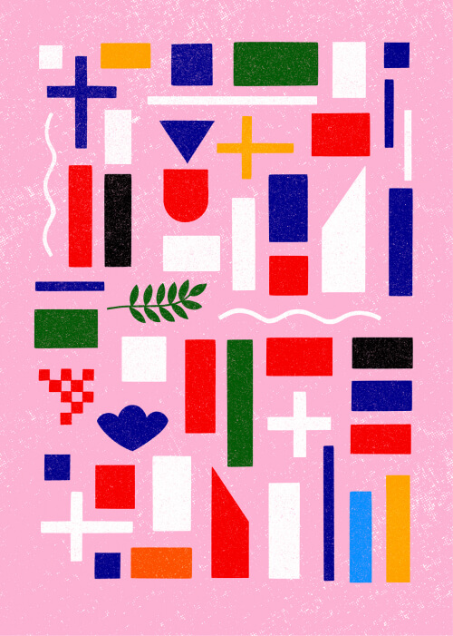 Deconstructed EU Member States Flags
