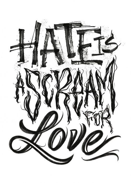 Hate Is A Scream For Love