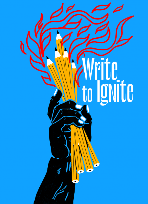 Write To Ignite (blue)