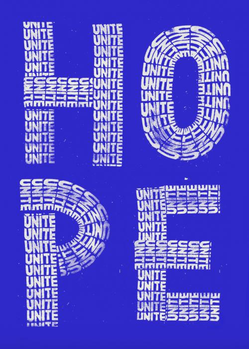 Hope Unite (blue)