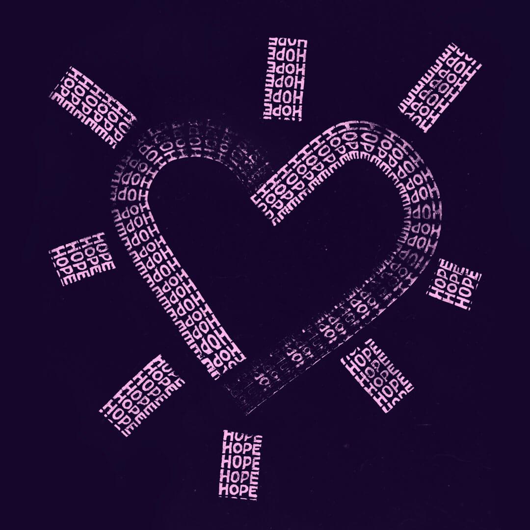 Hope Symbol Heart (color series) main image